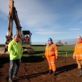 WORK BEGINS ON THE NEW SITE